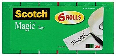 Scotch Tape Refill Magic 3/4 x 1000 Inches Boxed 6 Rolls