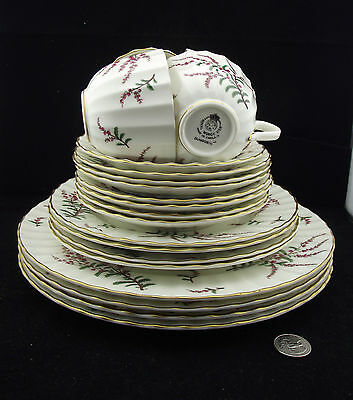 20 PCS ROYAL WORCESTER DUNROBIN  4 x  5 PC PLACE SETTINGS