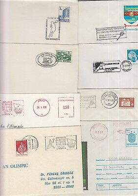 Tennis Romania 8 postmarks/cards/covers
