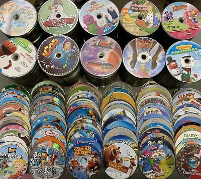 100 DVD Lot Kids Wholesale Great For Personal Or Resale Bulk Movies Tv Show Lots