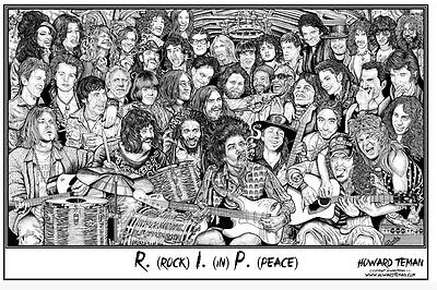 (LAMINATED) ROCK IN PEACE FAMOUS DEAD POSTER (91x61cm)  PICTURE PRINT NEW ART
