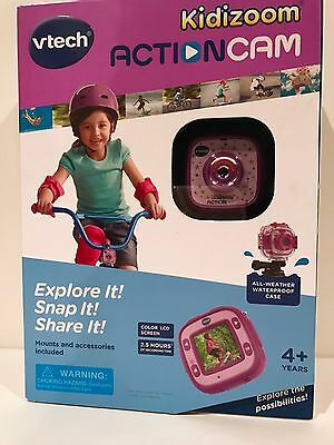 VTech Kidizoom Action Cam Photo/Videos Camera Water Proof Pink/Purple NEW