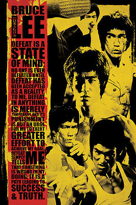 BRUCE LEE MOVIE COLLAGE POSTER (91x61cm)  PICTURE PRINT NEW ART