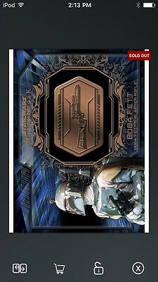 Topps Star Wars Digital Card Trader Bronze Boba Fett Medallion Insert