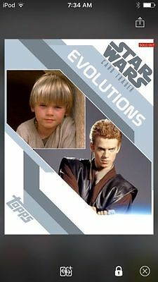 Topps Star Wars Digital Card Trader Evolutions Anakin Skywalker Insert