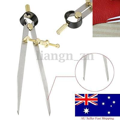 4'' 6'' Wing Divider Leather Craft Rotating Scratch Creaser Edge Compasses Tools