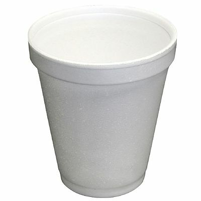 Bx/1000 - 16-F88 - 240ml White Foam Drinking Cups - Disposable Cups