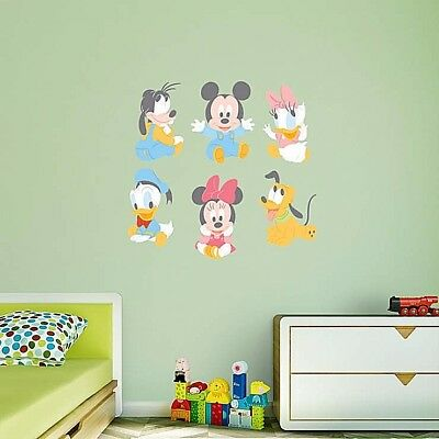 Disney Baby Mickey Mouse & Friends Vinyl Removable Wall Art Decal
