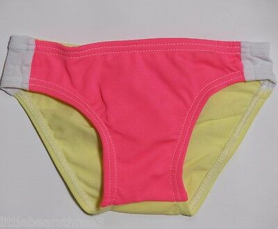 Girls White Soda Swimmers/ Tog Bottoms/ Briefs Pink Lemonade - Size 00 NEW