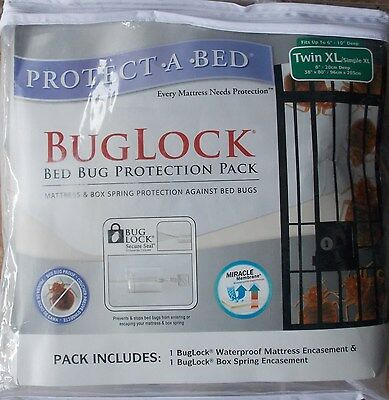 Protect A Bed BugLock Bed Bug Mattress Box Spring Protection 2 Pc ~ NEW Twin XL