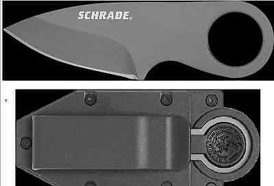 Schrade Schcc1 Full Tang Credit Card Knife Fixed Blade Knife With Sheath.