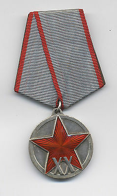 SOVIET Jubilee Medal for 20 Years of the Workers and Peasants' Red Army