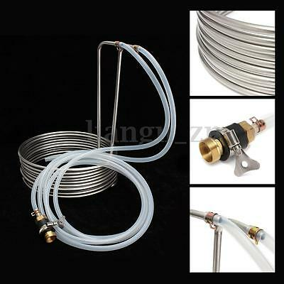 Stainless Steel Immersion Wort Chiller Cooler Elevated Coils Kit Home Brew Beer