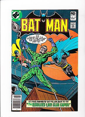 Batman # 317 Riddler Cover - Mint - White pages - News Stand Edition