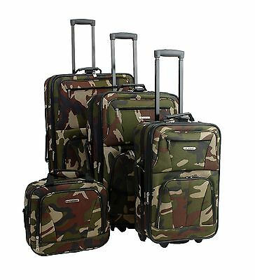 Rockland F32 Skate Wheels Luggage Set Camouflage One Size 4-Piece