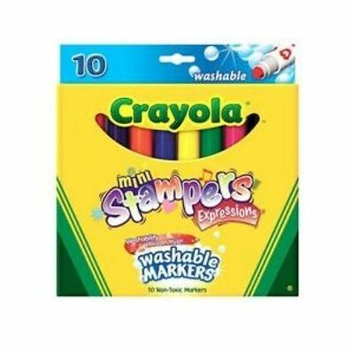 Crayola 10 color mini stamp art markers painted children's play children