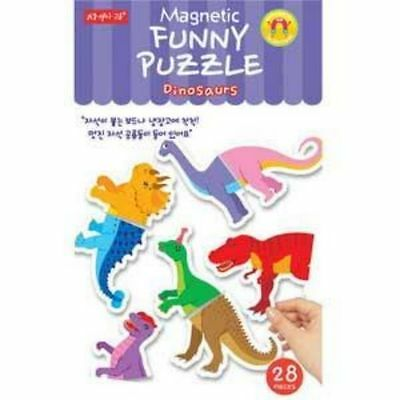 [Magnet Country - Funny Puzzle Dinosaur] Dinosaur Magnet Magnet Picture Magnet P