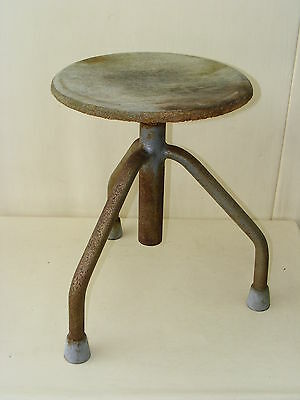 Old Swivel Stool Workshop Stools, Designer Hocker, Wood Vintage Bar Stool, Chair
