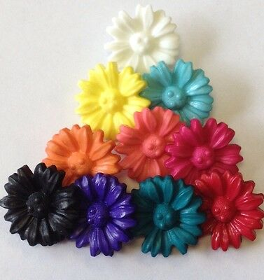 Flower Buttons 18mm Colour Choice Pack Sizes 6/12/25