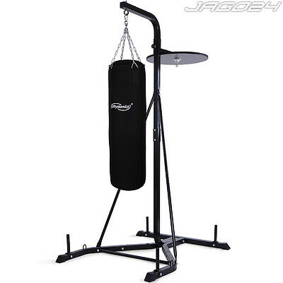 30kg Filled Punch Bag w/ Stand Free Standing Kick Boxing MMA Home Gym Training
