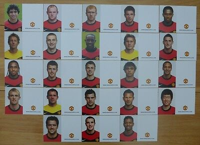 2009-10 Unsigned Man Utd Club Cards - Individually Priced