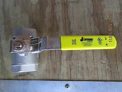 "Stainless Steel Ball valve - 1-1/2"" - NEW - locking - Jomar"