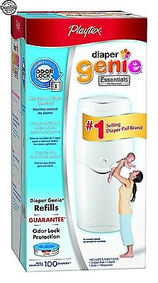 Playtex Diaper Genie Essentials Pail w/ Starter Refill Pack Diapers Accessories