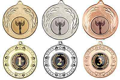 Quality Medals For Any Sport 50mm + FREE Personalised Logo, Ribbon & Engraving!