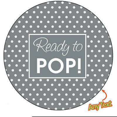 35 x Personalised READY TO POP  Baby Shower party Pregnant family  Stickers 931