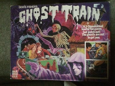Vintage Denys Fisher Ghost Train 1970s Complete Rare Collectable Board Game