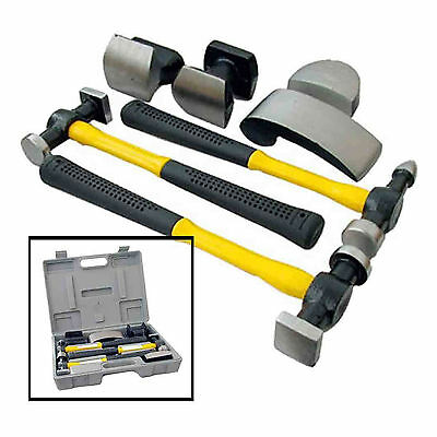 7pc Professional Hammer & Dolly Set Body Repair Set Panel Beating Dent Kit