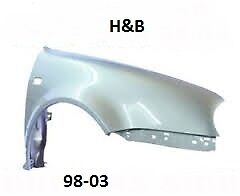 VW Golf mk4 front wing painted any colour 1998-2003