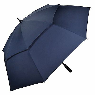Kung Fu Smith Auto Open 54 Inch Double Canopy Vented Windproof Golf Umbrella,