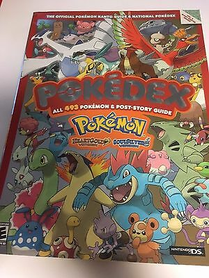 POKEMON GOLD & SILVER The Official Kanto Region Guide book POKEDEX + Poster NEW