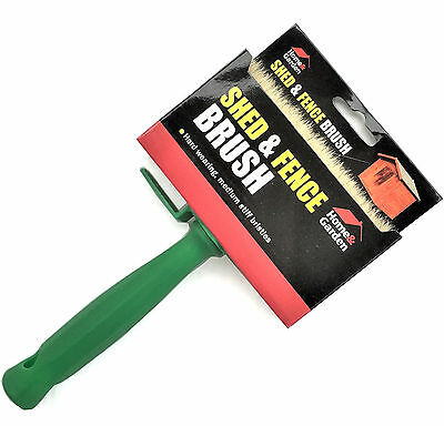 """Rapide 5"""" (120 x 30mm) Wide Shed And Fence Decking Paint Brush Emulsion Paste"""
