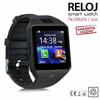 Reloj inteligente smart watch DZ09 Bluetooth, telefono tarjeta SIM en NEGRO