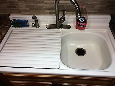 1960s VINTAGE YOUNGSTOWN DOUBLE BOWL KITCHEN SINK ANTIQUE GREAT CONDITION