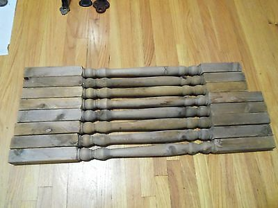 Lot of 8 Wood Antique Spindles Porch Bannigster Architictural