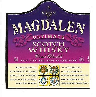 Attractive Label Bourbon Whiskey Scotch  Whisky Alcool Magdalen Etiquette
