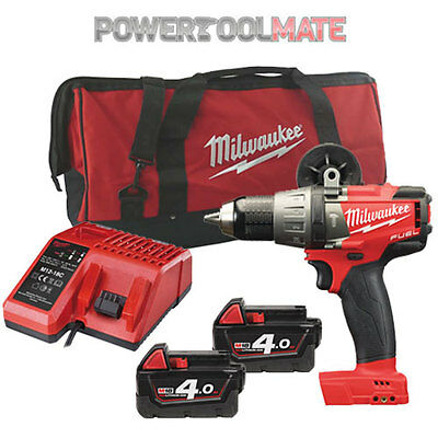 Milwaukee M18FPD-402B Fuel 2 Brushless Combi Drill with 2 x 4.0Ah & Bag