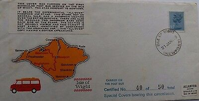 Great Britain 1975 Isle Of Wight First Post Bus Service Limited Edition Cover
