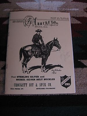 Brand New Reprint 28 Page Crockett Bit & Spur Company Product Line Catalog # 49