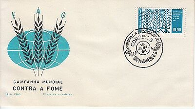 FAO Brasil 1963 FDC Contra a Fome Against Hunger