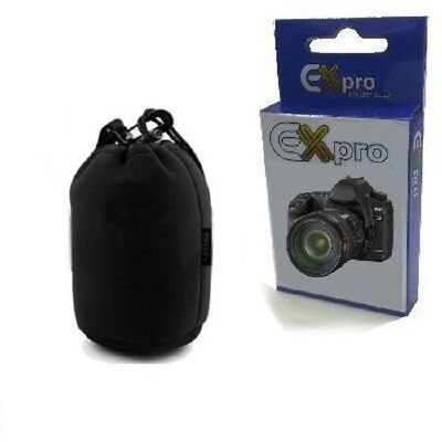 Ex-Pro® Neoprene DSLR Camera Lens Soft Protector Carry Case Bag Pouch - Small