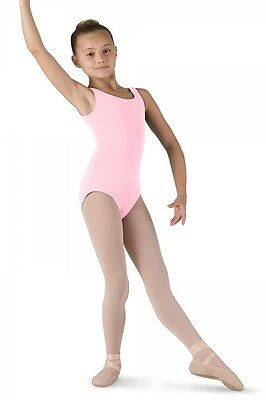 """Bloch CL5405 Girls' Size 12  Pink """"Tutu"""" Tank Leotard NEW with Tags"""
