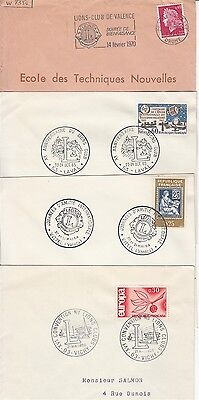 Lions Club France 13 covers postmarks