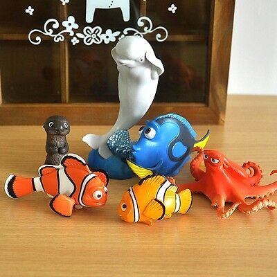 Finding Dory / Finding Nemo Movie Cake Topper Figurine Toy Gift Set of 6pcs