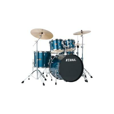 Tama Imperialstar 5-Piece Drum Set, Hairline Blue #IP52KCHLB