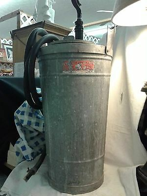 Antg. Western Stove Co. Fire Extinguisher w/Advertising Label galvanized steel