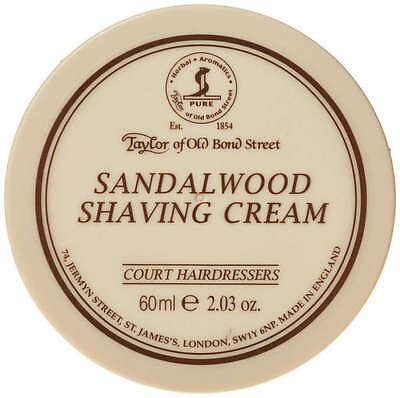 Taylor of Old Bond Street Sandalwood Shaving Cream Bowl 60ml / 2.03oz